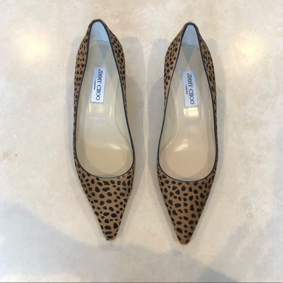 8c2312823b2 Jimmy Choo Shoes - Jimmy Choo Leopard Print Pony Hair Kitten Heel